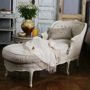 I wouldn't mind having a chaise lounge... I'd like to read in my office as well as write.